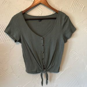 Women's American Eagle Olive Green Knit Top